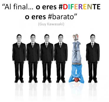 Al final … o eres #DIFERENTE o eres #barato