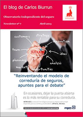 eLetter Nº 7. Reinventar el modelo de negocio de Corredor de seguros